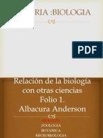 Relación de La Biología Con Todas Las Ciencias