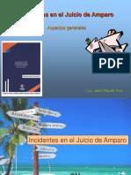 Incidentes en El Juicio de Amparo