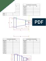 Ejercicios Programación Coordenadas a Realizar