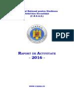 Raport CNSAS 2016