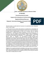 Decimoquinta Edición Del Modelo Venezolano de Naciones Unidas