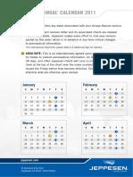 Jeppview Update Calendar 2011