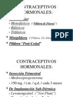 CONTRACEPTIVOS HORMONALES