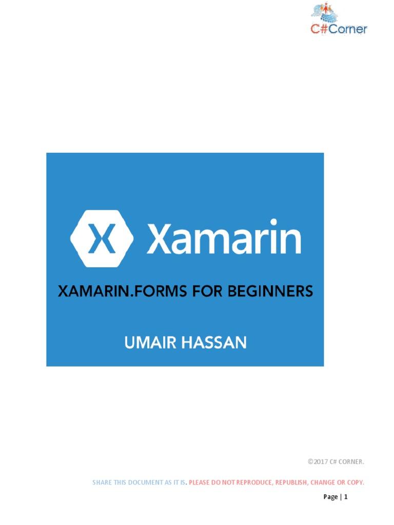 Xamarin Forms for Beginners | Xamarin | Microsoft Visual Studio