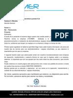 Carta de Presentacion Lycomer S.a.