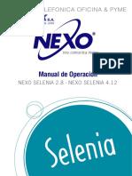 NEXO SELENIA 2.8 Manual de Operacion