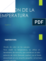 Medicion de La Temperatura
