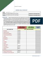 nursing skills checklist  leek