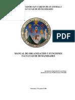 Manual de Organización Humanidades
