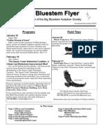January-February 2004 Big Bluesterm Flyer Big Bluestem Audubon Society