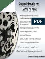 Presentación Grupo Gamma Phi Alpha