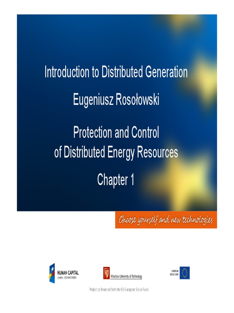 Power System Protection Chapter 1 Distributed Generation Wind Basic Operation Idmt Relay