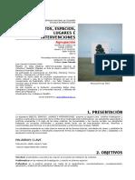 Objetos Espacios Lugares e Intervenciones Programa Calendario