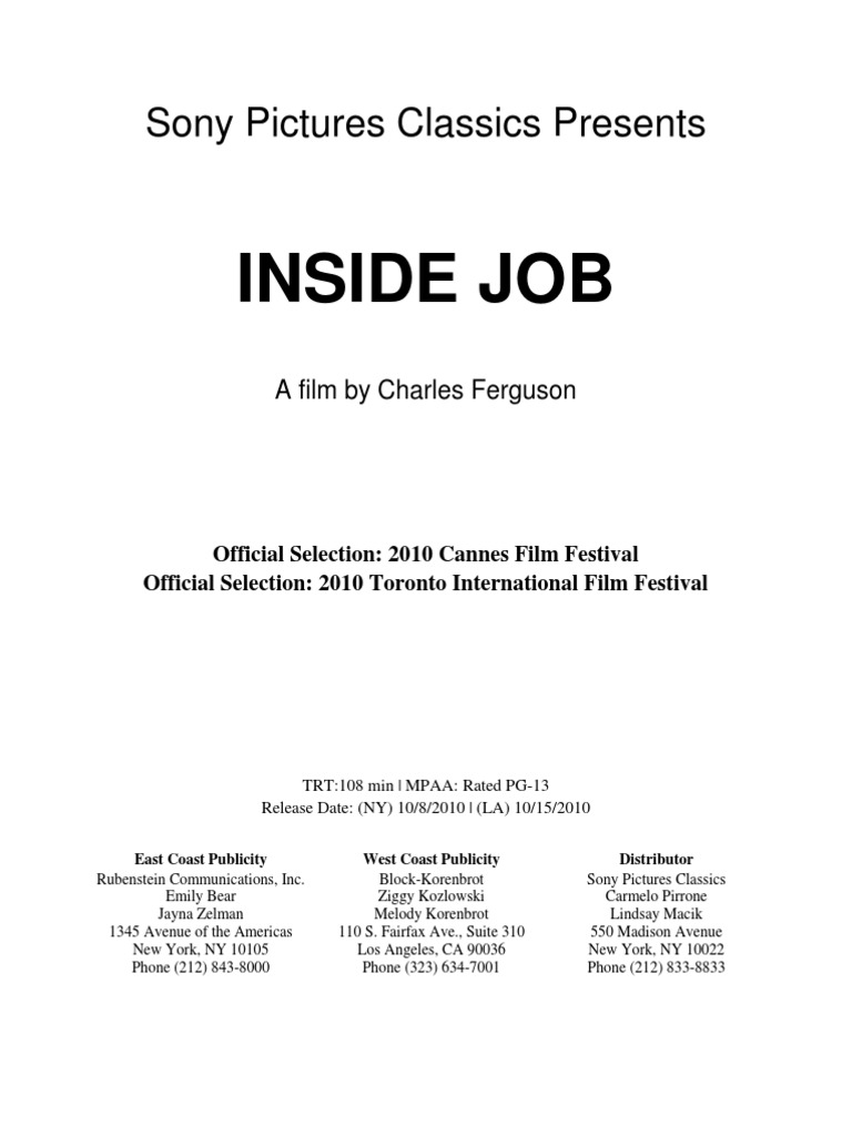 Inside job the documentary that cost 20000000000000 to inside job the documentary that cost 20000000000000 to produce collateralized debt obligation mortgage backed security fandeluxe Image collections