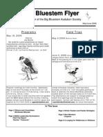 May-June 2006 Big Bluesterm Flyer Big Bluestem Audubon Society