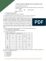Ejercicios Estructura Atómica y Enlace Quimico 4º Eso