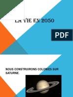 la vie en 2050