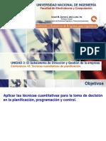 Lecture 18 - Técnicas Cuantitativas de Planificación y Control.