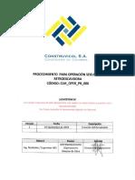 CLM OPER PR 006 Proced Oper Seg Retroexcavadora Rev1