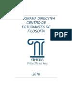 Programa CEF 2018