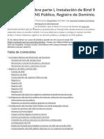 Manual de Zimbra Parte I Instalacion de Bind 9 CentOS 7 Registro de Dominio de Internet