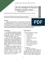 Relatório Felipe de Paula Rocha - Experimento 1 - Química Experimental L2