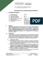 Metodologia de La Investigacion Cientifica 2017-II