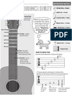 Guitar Reference Sheet