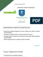 ORganisasi Proyek Konstruksi II
