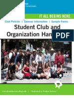 Student Club and Organization Handbook