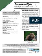 September-October 2010 Big Bluesterm Flyer Big Bluestem Audubon Society