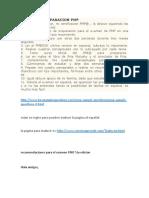 Recomendaciones Para El Examen PMP 5ta Edicion