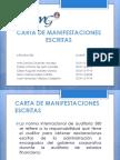 Carta de Manifestaciones Escritas
