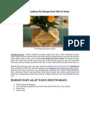 Kreasi Membuat Pot Bunga Dari Stik Es Krim Docx