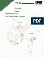 Partsbook Racing TFU-15 TFS-25