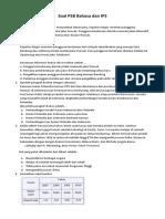 Soal PPDB Bahasa Dan IPS 2015