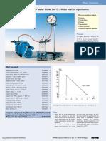 Vapour pressure of water below 100°C – Molar heat of vaporization