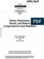 Power, Distortions, Revolt and Reform in Agricultural