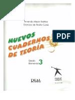 Nuevos Cuadernos Teoría Musical Ibáñez-Cursá (3 Grado Elemental)