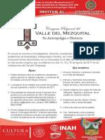 Convocatoria del primer congreso regional del Valle Del Mezquital