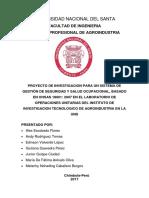 1proyecto de Investigacion Para Un Sistema de Gestión de Seguridad y Salud Ocupacional