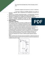 Informe Propiedades Coligativas Ascenso Del Punto de Ebullicion y Descenso Crioscopico