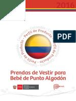 Prendas de Vestir Para Bebés de Punto de Algodon Peru-Colombia