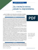 Cognição, Cognição Social e Funcionalidade Na Esquizofrenia