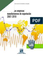 Perfil de Las Empresas Manufactureras de Exportación 2007-2010