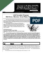 November 2004 Jayhawk Audubon Society Newsletter