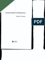 Finanzas Para No Financieros - Chu Rubio
