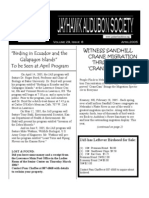April 2005 Jayhawk Audubon Society Newsletter