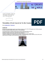 Workability of Fresh Concrete by Vee-Bee Consistometer