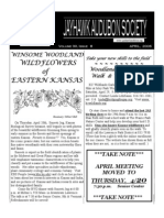 April 2006 Jayhawk Audubon Society Newsletter